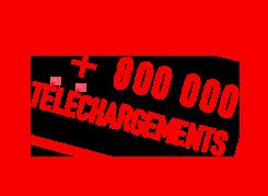 Plus de 800000 téléchargement
